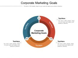 Corporate Marketing Goals Ppt Powerpoint Presentation Infographic Template Outfit Cpb