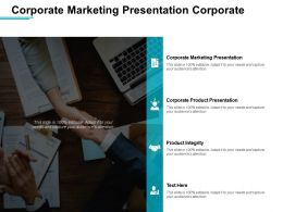 Corporate Marketing Presentation Corporate Product Presentation Product Integrity Cpb