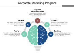 Corporate Marketing Program Ppt Powerpoint Presentation Icon Infographic Template Cpb