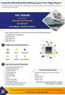 Corporate Marketing Storytelling Layout One Pager Report Presentation Report Infographic PPT PDF Document