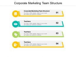 Corporate Marketing Team Structure Ppt Powerpoint Presentation Icon Graphics Template Cpb