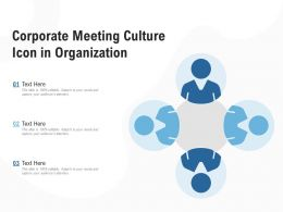 Corporate Meeting Culture Icon In Organization