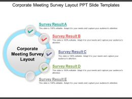 Corporate Meeting Survey Layout PPT Slide Templates