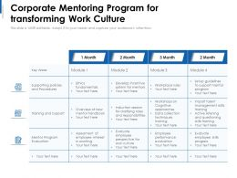 Corporate Mentoring Program For Transforming Work Culture