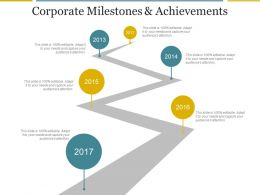 Corporate Milestones And Achievements Powerpoint Slide Show