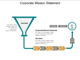 Corporate Mission Statement Ppt Powerpoint Presentation Ideas Clipart Cpb