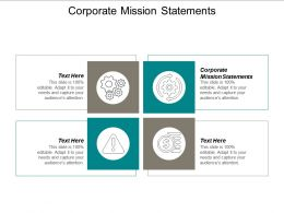 Corporate Mission Statements Ppt Powerpoint Presentation Ideas Designs Cpb
