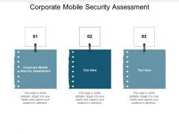 Corporate Mobile Security Assessment Ppt Powerpoint Presentation Gallery Show Cpb