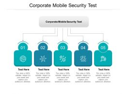 Corporate Mobile Security Test Ppt Powerpoint Presentation Gallery Mockup Cpb