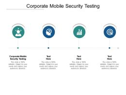 Corporate Mobile Security Testing Ppt Powerpoint Presentation Outline Slide Portrait Cpb