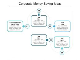 Corporate Money Saving Ideas Ppt Powerpoint Presentation File Graphics Download Cpb