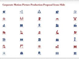Corporate Motion Picture Production Proposal Icons Slide Ppt Powerpoint Presentation Deck