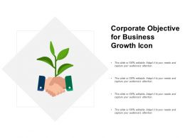 Corporate Objective For Business Growth Icon
