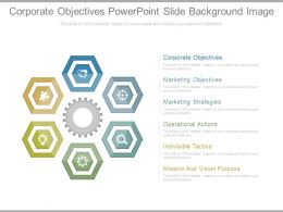 Corporate Objectives Powerpoint Slide Background Image