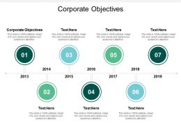Corporate Objectives Ppt Powerpoint Presentation Model Deck Cpb