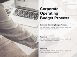 Corporate Operating Budget Process Ppt Powerpoint Presentation Ideas Shapes Cpb