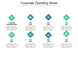 Corporate Operating Model Ppt Powerpoint Presentation Infographics Guidelines Cpb