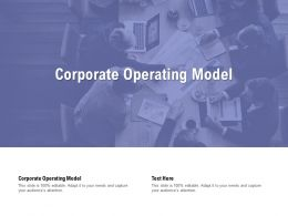 Corporate Operating Model Ppt Powerpoint Presentation Inspiration Format Cpb
