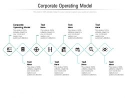 Corporate Operating Model Ppt Powerpoint Presentation Visual Aids Pictures Cpb