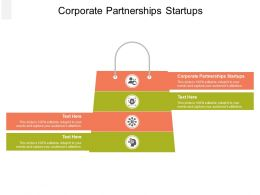 Corporate Partnerships Startups Ppt Powerpoint Presentation Layouts Slides Cpb