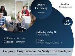 Corporate Party Invitation For Newly Hired Employees