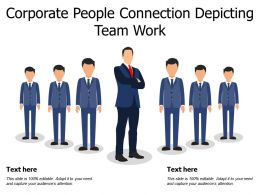 Corporate People Connection Depicting Team Work