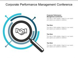 Corporate Performance Management Conference Ppt Powerpoint Presentation Model Slide Cpb