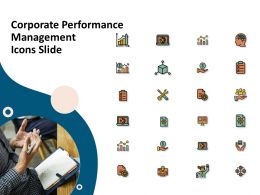 Corporate Performance Management Icons Slide Ppt Presentation Slides