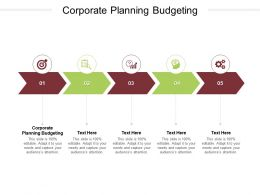Corporate Planning Budgeting Ppt Powerpoint Presentation Model Topics Cpb