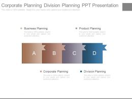 Corporate Planning Division Planning Ppt Presentation
