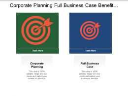 Corporate Planning Full Business Case Benefit Management Strategy