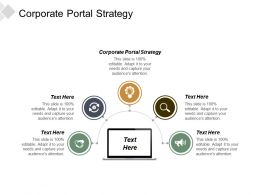 Corporate Portal Strategy Ppt Powerpoint Presentation Infographics Outfit Cpb