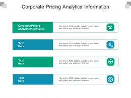 Corporate Pricing Analytics Information Ppt Powerpoint Presentation Visual Aids Ideas Cpb