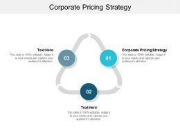 Corporate Pricing Strategy Ppt Powerpoint Presentation Diagrams Cpb