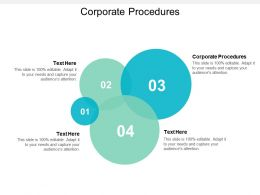 Corporate Procedures Ppt Powerpoint Presentation Infographics Format Ideas Cpb