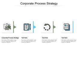 Corporate Process Strategy Ppt Powerpoint Presentation Ideas Background Image Cpb