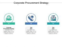 Corporate Procurement Strategy Ppt Powerpoint Presentation Icon Background Cpb