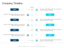 Corporate Profiling Company Timeline Ppt Portrait