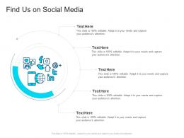 Corporate Profiling Find Us On Social Media Ppt Inspiration