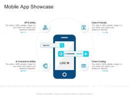 Corporate Profiling Mobile App Showcase Ppt Clipart