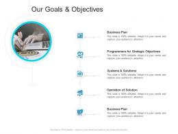 Corporate Profiling Our Goals And Objectives Ppt Background