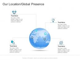 Corporate Profiling Our Location Global Presence Ppt Infographics
