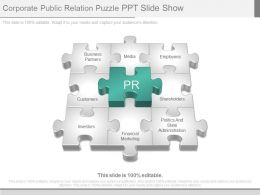 Corporate Public Relation Puzzle Ppt Slide Show