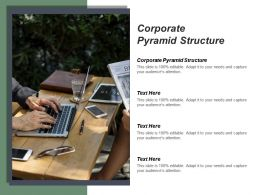 Corporate Pyramid Structure Ppt Powerpoint Presentation Infographic Template Show Cpb