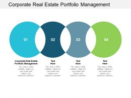 Corporate Real Estate Portfolio Management Ppt Powerpoint Presentation Professional Files Cpb