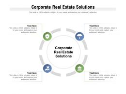 Corporate Real Estate Solutions Ppt Powerpoint Presentation Infographic Template Graphics