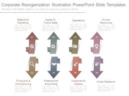 Corporate Reorganization Illustration Powerpoint Slide Templates