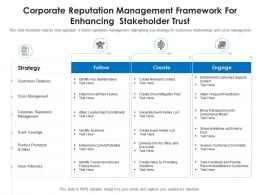 Corporate Reputation Management Framework For Enhancing Stakeholder Trust