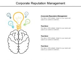 Corporate Reputation Management Ppt Powerpoint Presentation Infographics Inspiration Cpb