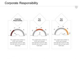 Corporate Responsibility Ppt Powerpoint Presentation Infographic Template Graphics Cpb
